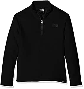 The North Face Youth's 100 Glacier 1/4 Zip Fleece Jacket, Black/tnf Black - X-Small