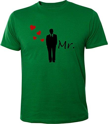 Mister Merchandise Herren Men T-Shirt MR - Bräutigam Tee Shirt bedruckt Grün
