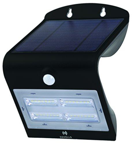 Havells Solazen 3.2-Watt Rechargeable Solar PIR Motion Sensor LED Light (Black)