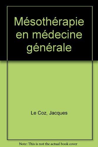 Mésothérapie en médecine générale