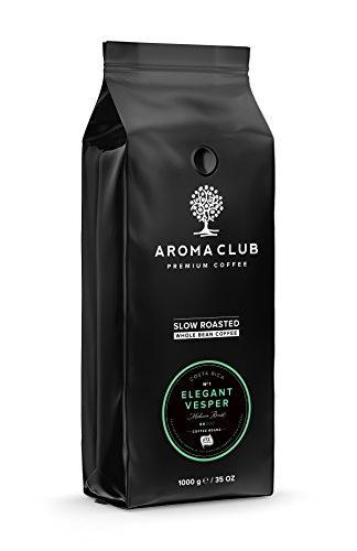Aroma Club kaffeebohnen 1kg - Elegant Vesper Mild Röstung - 100% Arabica aus Costa Rica - Slow Roast - UTZ Certified & CO2 Neutral (Super Automatische Espresso-maschine)