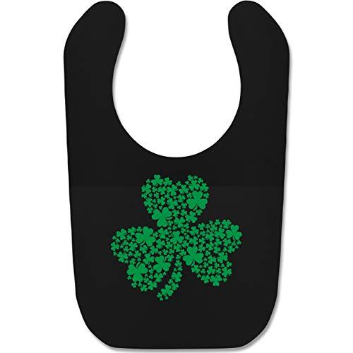 Anlässe Baby - Kleeblatt Motiv für St. Patricks Day - Unisize - Schwarz - BZ12 - Baby Lätzchen Baumwolle