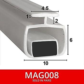 gris 200cm EC-MAG-367-90/° joint magn/étique Box douche en caoutchouc