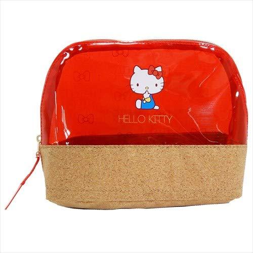 Sanrio Hello Kitty CX18002KT Tasche, PVC, durchsichtig, Rot -