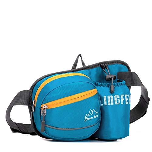Irinay Gürteltasche Bergsteigen Taille Pack Mit Casual Chic Flaschenhalter Bag Wait Bag Pack Fanny Bag Mesh Hip Belt Pouch Für Outdoors Running Camping Trekking Wandern 4 Farben H22 X W12 X -