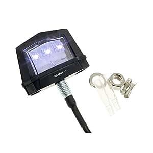 Éclairage LED Plaque d'Immatriculation KOSO, avec boîtier, avec marque de contrôle E, noir