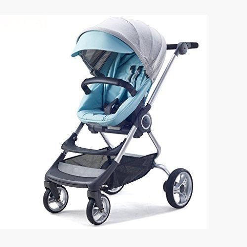 Reise-System-Kinderwagen-hoher Landschafts-Spaziergänger-leichter stützender Spaziergänger, der Jungen zwei-Wege faltet 3 in 1 Kombikinderwagen (Farbe : A)
