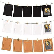 Tocone Marco de Fotos de Papel de Bricolaje Decoración de La Pared Del Hogar Con Cuerda