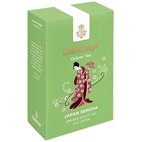Dallmayr Grüner Tee – Japan Sencha, Grüner Tee, Japanischer Grüntee, Loser Tee, Fein/Herb, 100 g