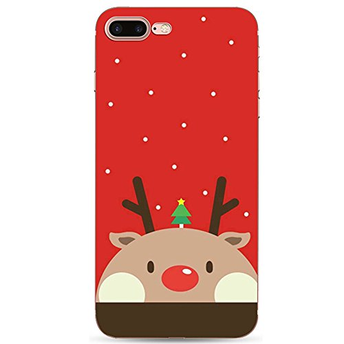 iPhone 7 Plus 5.5 Zoll Case Cover,Sunroyal Ultra Thin Dünn Soft TPU Santa Claus Christmas Muster Entwurf Silicone Back Skin Shock Absorption Bumper Shell Skin Protective Cover Hülle for iPhone 7 Plus  Pattern 05