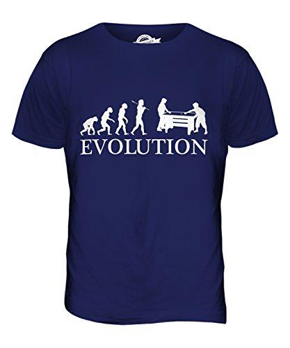 CandyMix Air Hockey Evolution Des Menschen Herren T Shirt Navy Blau