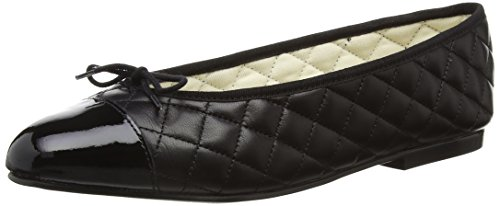 French SoleSimple Quilt-patent Toe - Ballerine Donna , Nero (Black (nero)), 42