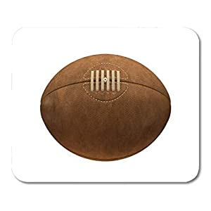 Mauspads Brown Vintage Old Classic Rugbyball Schnürsenkel und Nähte Mauspad...