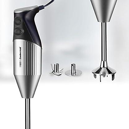 ESGE-Zauberstab-M-160-Silverline-Stabmixer-SilberDunkelblau-mit-Zubehr-bis-15000-UMin-90550