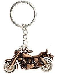 Aai Classic Revolving Wheel Bike Metal Keychain - Bronze
