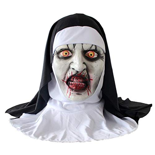 Halloween Masken, Cosplay Scary Horrible Nonne Maske Schmelzendes Gesicht Latex Kostüm Halloween Maskerade, Maskenkostüm Maskerade Dress Up Dekoration (Raum Themen Kostüm Party)