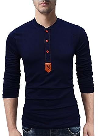 EYEBOGLER Regular Fit Men's Cotton T-Shirt (M-T9-NB, Navy Blue, Medium)
