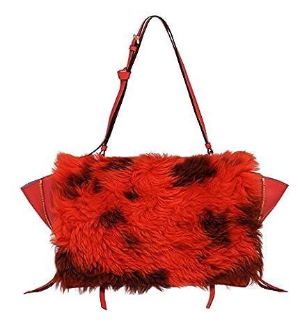 Prada Damen 1Bd0882bocf0or1 Rot Leder Handtaschen