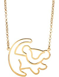 Disney Couture Classic Lion King Gold-Plated Simba Outline Necklace