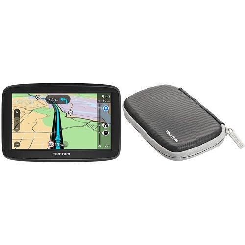 TomTom Start 52 Navigationsgerät (13 cm (5 Zoll) Display, Lifetime Maps, Fahrspurassistent, Karten von 48 Ländern Europas, inkl. Schützhülle) schwarz