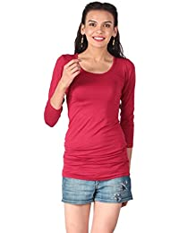 Remanika Maroon color Knitted Top for womens