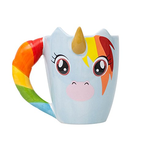 Thumbs Up UNIMUG Unicorn Mug Tasse Licorne Céramique Multicolore 11 x 10,5 x 11 cm