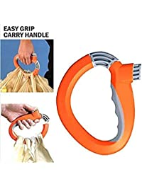 DishGo One Trip Grip Bag Handle Grocery Carrier Holder Carry Multiple Plastic Bags Lock. 1pc