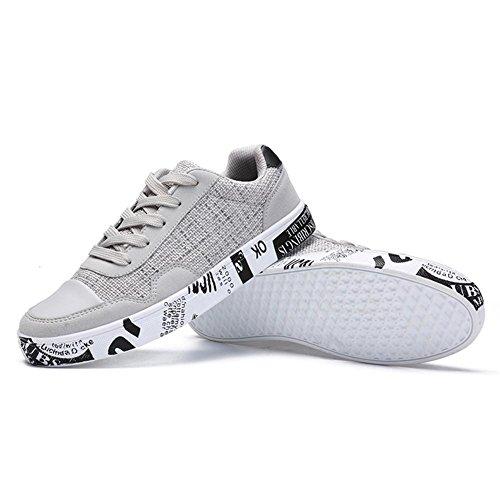 Scarpe da corsa scarpe sportive Scarpe piatte Scarpe da uomo Canvas Usura antiscivolo Sport all'aria aperta Bianca