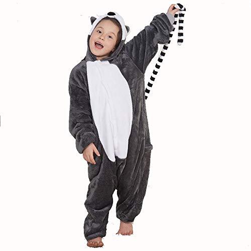WLJBY Kinder Unisex Cartoon Stück Pyjamas, Langer Schwanz AFFE Tierform Leistung Kostüm, Familie Pyjamas Party Haushaltsbekleidung in Kinder Alter 3-12 Jahre,Gray,125# (Baby Affen Kostüm Familie)