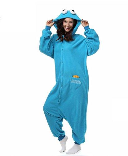 TuTu@ Kigurumi pigiama Cosplay / Sesame Street Leotard/tutina Halloween animale pigiameria Blue Patchwork Polar Fleece Kigurumi Unisex , s