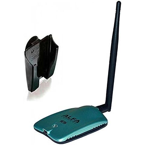 Alfa Network AWUS036NH + U-MOUNT-CS - Adaptador USB WiFi