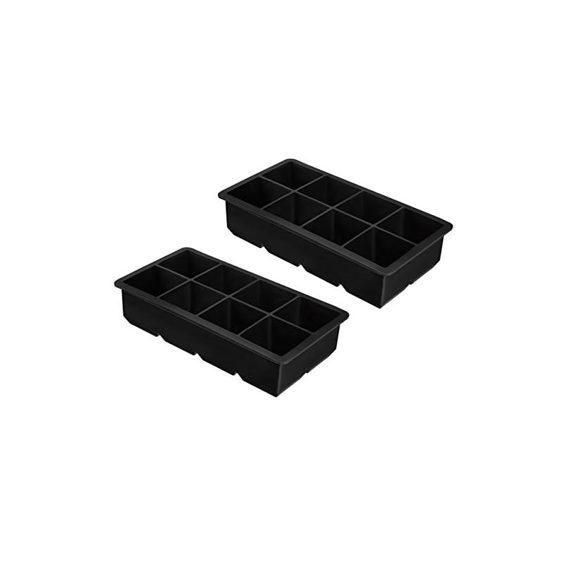 2er Pack Xxl Eiswrfelform Fr Je 8 Riesige Eiswrfel 5 X 5 Cm Jumbo Eiswrfel Silikonform Ohne Bpa