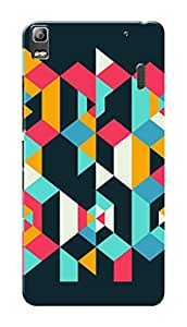 Lenovo K3 Note Black Hard Printed Case Cover by Hachi - Geomatrical Pattern Design