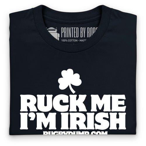 Ruck Me I'm Irish T-shirt, Uomo Nero