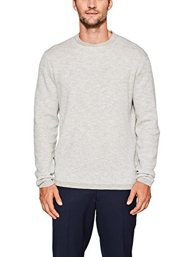 ESPRIT Collection Herren Pullover 097EO2I016, Grau (Grey 030), Medium (Medium Collection Grey)