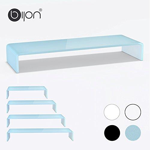 glasshop24 bijon® TV Glasaufsatz Monitor Erhöhung (B/T/H) 1000x300x130mm - weiß