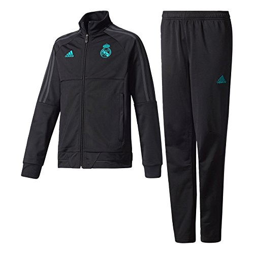 Adidas Real Madrid Survêtement Enfant, Enfant, Real Madrid Trainingsanzug, Black/Solgre, 12 ans