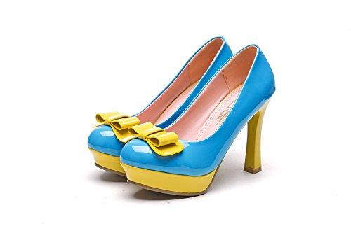 Tissu Pour Femmes 1to9 En Couleurs Assorties De Fiançailles En Caoutchouc-chaussures Bleu