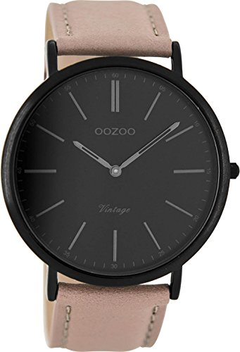 Oozoo Damen Digital Quarz Uhr mit Leder Armband C8170