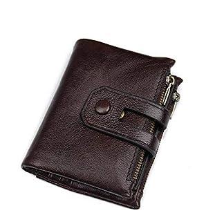41IdmHaSxRL. SS324  - Monedero casual de negocios Unisex Bolso de cuero suave Monedero retro Corto 15 Ranura for tarjeta Paquete de tarjeta