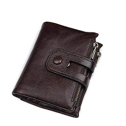 41IdmHaSxRL. SS416  - Monedero casual de negocios Unisex Bolso de cuero suave Monedero retro Corto 15 Ranura para tarjeta Paquete de tarjeta