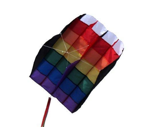 En la brisa Rainbow rayas 5.0aire Foil Kite, Rainbow Stripe