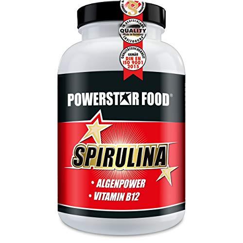 SPIRULINA PLATENSIS Tabletten HOCHDOSIERT - Superfood mit Vitamin B12 in geprüfter Arzneibuch-/Pharmaqualität - 300 Presslinge - Premiumqualität made in Germany