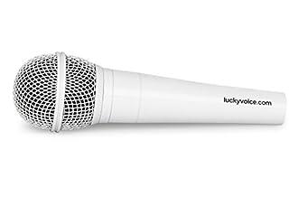 Lucky Voice - Microfono per karaoke, colore: Bianco