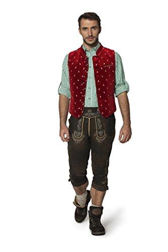 Stockerpoint - Herren Trachten Weste in verschiedenen Farbtönen, Calzado, Größe:58, Farbe:Dunkelrot - 2