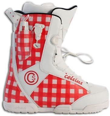 Celsius W11–Fenom ozono botas de Snowboard rojo–UK 5,5