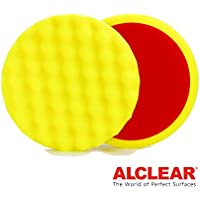 ALCLEAR Set di 2 dischetti abrasivo a cialda media per un sistema disco Ø 160x30 mm, giallo - ukpricecomparsion.eu