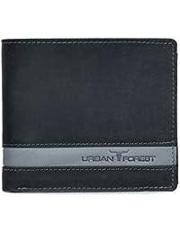 Urban Forest Smith Black/Grey RFID Blocking Leather Wallet for Men