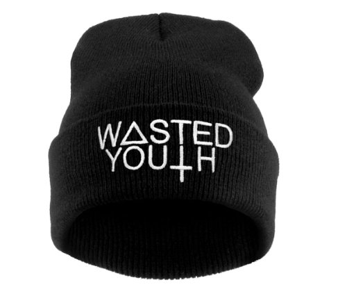 Beanie WASTED YOUTH HAT black