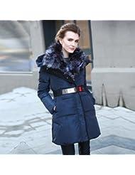 YRF Robes de l'hiver. Manteau long épais. Col en fourrure doudoune. Rembourrée coupe-vent